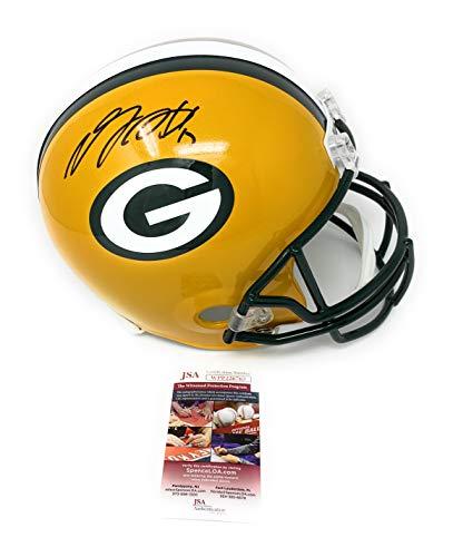- Davante Adams Green Bay Packers Signed Autograph Full Size Helmet JSA Witnessed Certified