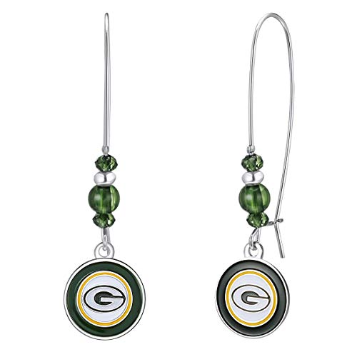 Pro Specialties Group NFL Green Bay Packers Kidney Wire Hook Earrings