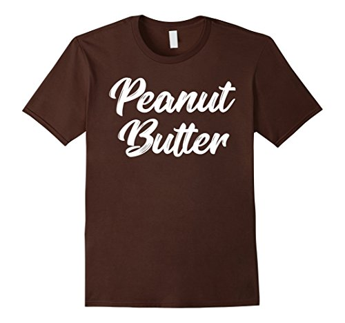 Mens Peanut Butter and Jelly Couples T-Shirt Twins Costume 2XL Brown (Duo Costumes For Friends)