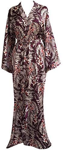 - JANA JIRA Women's Kimono Long Robe Ankle Length Robe for Women Nightgowns Plus Size 2X/3X, Red-P35