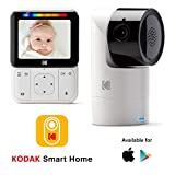 "KODAK CHERISH C225 Video Baby Monitor - Tilt/Pan/Zoom Camera, 2.8"" HD Screen, Hi-res"