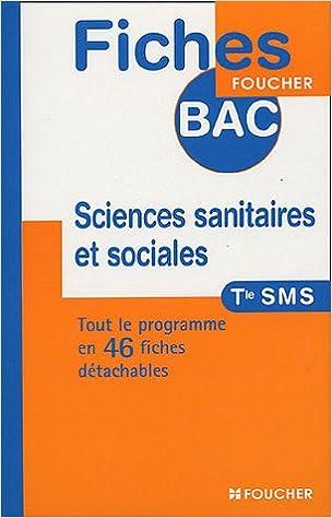 Livre Sciences sanitaires et sociales Tle SMS epub pdf