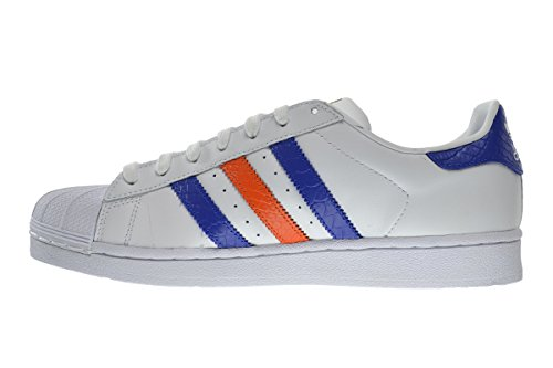 Adidas Superstar East River Rivalry - Zapatillas de Baloncesto para Hombre, Blanco (Running White/Bold Blue/Orange), 7,5 D(M) US: Amazon.es: Zapatos y ...