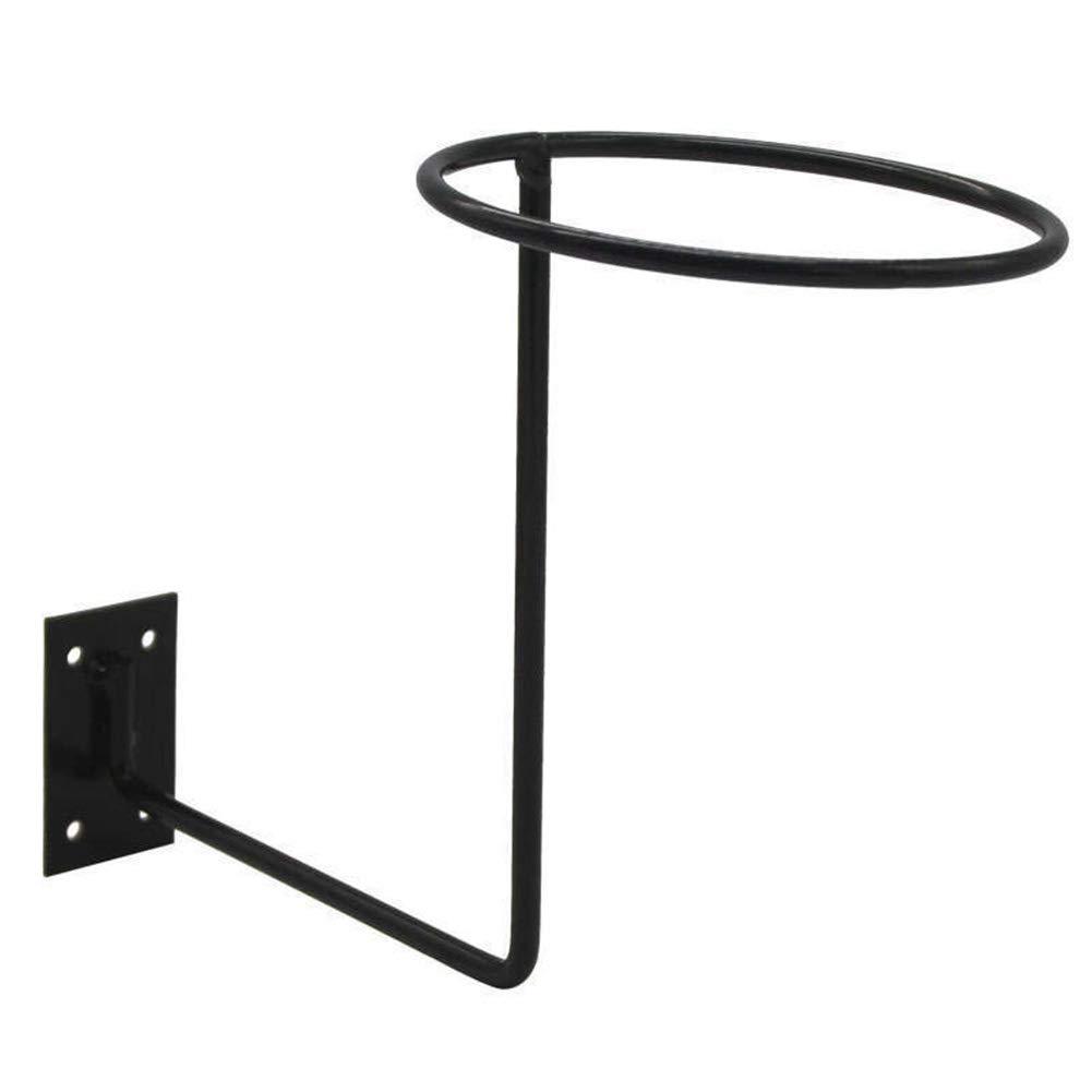 soporte para casco de bicicleta o motocicleta gancho de pared 1//2 pieza de almacenamiento para casco de motocicleta Soporte de pared para casco negro