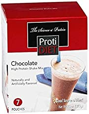 ProtiDiet Chocolate Shake for Weight Loss | High Protein (15 Grams) 7 Pouches, 7.5 oz
