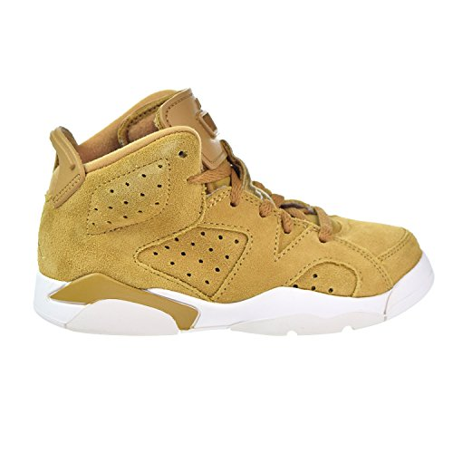 Jordan Retro 6'' Wheat Golden Harvest/Golden Harvest (Little Kid) (2 M US Little Kid) by Jordan