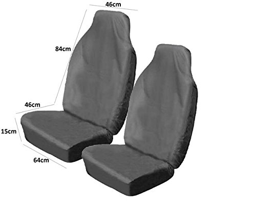 2 WATER RESISTANT FRONT PAIR CAR SEAT COVERS PROTECTOR NEW CAR COVER WIPE CLEAN AutoPower