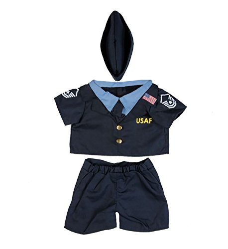 Air Force Uniform Outfit Teddy Bear Clothes Fit 14'' - 18'' Build-a-bear, Vermont Teddy Bears, and Make Your Own Stuffed Animals by Stuffems Toy Shop