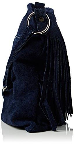 Girly HandBags Daniela - Bolso bandolera Mujer Azul - azul (Navy)