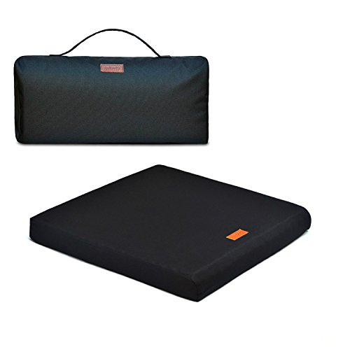 - The Upgrade Seat, 100 Percent Natural Latex Foam Portable Seat Cushion for Travel, Office, Autos, Wheelchairs and Sport Events