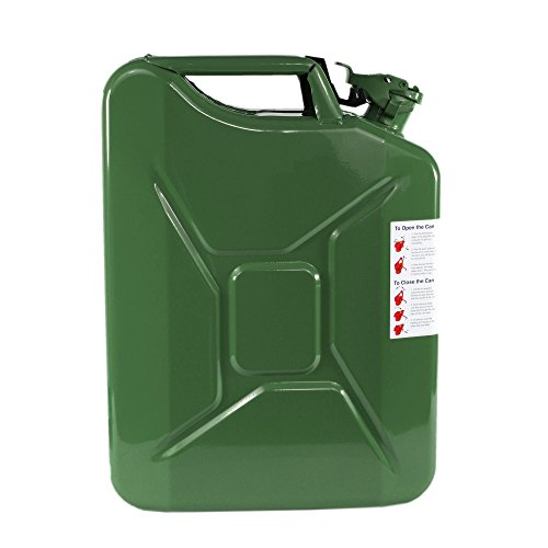 OD Green Gas Fuel Can 20L Wavian Steel Jerry Can /& Spout 5 Gallon NATO Spec