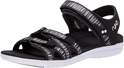 Ryka Women's Savannah Sandal, Black, 10 W US