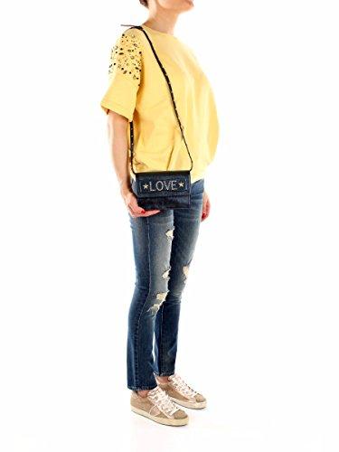 Borse a Mano Valentino Red Donna Pelle Blu e Oro LQ0B0678CLE299 Blu 4x12x18 cm