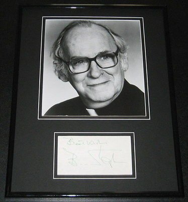 Barnard Hughes Signed Framed 11x14 Photo Poster Display Lost Boys Tron Hughes Framed