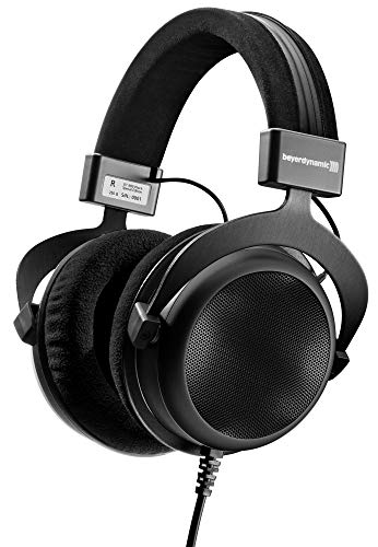 beyerdynamic DT 880 Premium Semi-Open Over Ear HiFi Stereo Headphones (250 Ohm Premium, Black (Limited Edition)) (Renewed)