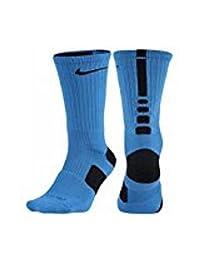 Nike Women's Elite Basketball Crew Socks Small (Fits Size 4-6) Photo Blue, Black