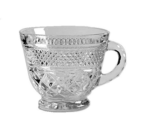 Anchor Hocking Wexford Clear Glass ( 7 Oz Punch, Coffee or Tea Cup )