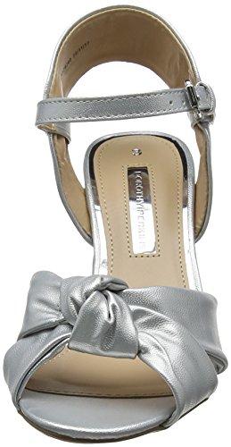 Mujer Silver 210 de Plateado Punta Breeze para Perkins Descubierta Sandalias Dorothy xSp0zv
