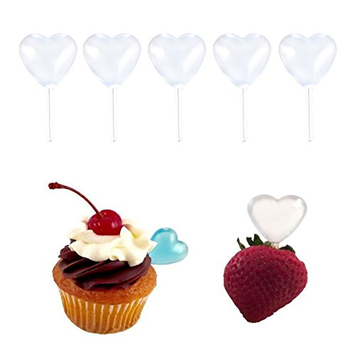 100 Pcs Clear Disposable Heart Shape Plastic Jam Straw - 4ml Juice Squeezed Sauce West Point Decorative Special Flavor Dropper Liquid Dropper Pasteur Pipette for Chocolate Cupcakes and Strawberries