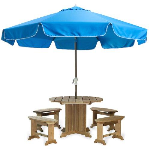 All Things Cedar Patio Umbrella, Blue, 10'