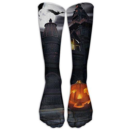 Full Moon Hallowmas Halloween 1 Pair Over-The-Calf Socks Dresses High Stockings Cosplay (Halloween 4 Full Movie Cast)