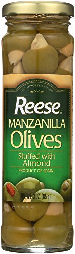 (Reese Almond Stuffed Manzanilla Olives, 3-Ounces (Pack of 12))