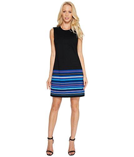 病的武装解除水っぽい[カルバンクライン] Calvin Klein レディース Stripe Bottom Pont Sheath Dress ドレス [並行輸入品]