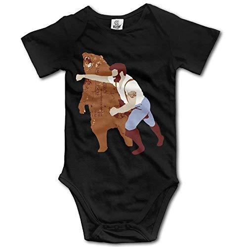 Baby Onesie Haymaker Bear Punch Tee Funny Jumpsuits Bodysuit]()