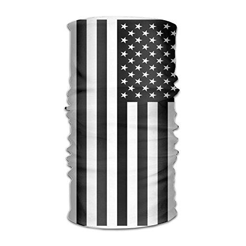 Price comparison product image ZZATAA Big Black American Flag Headwear Hats Elastic Head Wrap Scarf Hair Band Caps