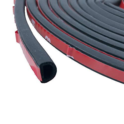 HOMES1 4 Meters Small D Type Noise Insulation Car Sound Insulation Auto Sound Deadener Car Door Engine Hood Trunk Decor Soundproof ()