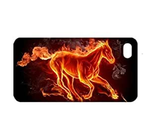 Flaming Fire Horse Running Hard Case for iPhone 4/4S