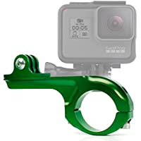 DURAGADGET Ultra-Strong Forged Aluminium Handlebar Mount in Green For For GoPro Hero 4 (Black & Sliver), HERO, 3+, 3, 2, 1 & HD Hero, Naked / Helmet / LCD BacPak (Black, White, Silver, Surf, Outdoor & Sport Editions)