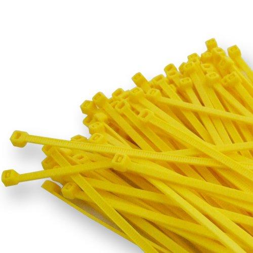 100 x 100 mm x 2.5 mm giallo di alta qualit/à Cavo fascette in nylon zip fascette