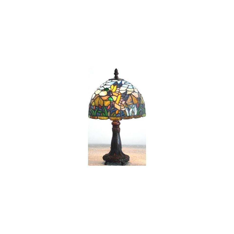 Tiffany Shade Antique Bronze Mini Table Lamp