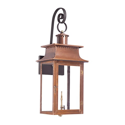 Elk 7907-WP Maryville Outdoor Wall Sconce with Natural Gas Flame, Aged Copper
