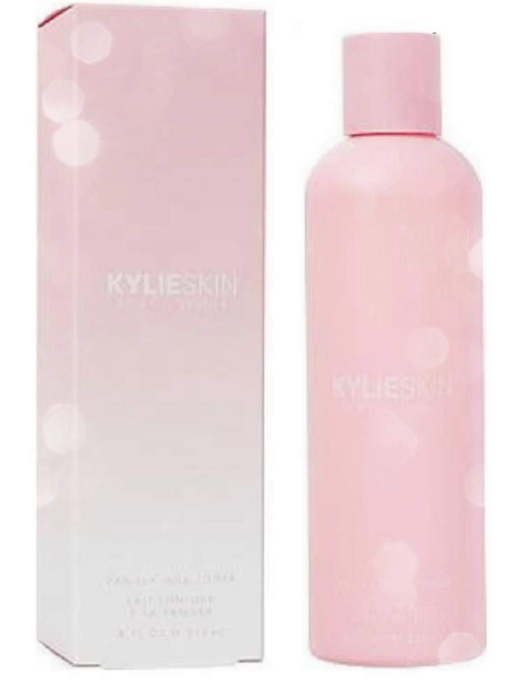 Kylie Vanilla Milk Toner 8 Fl. Oz! Formulated With Avocado Oil, Kiwi Seed Oil And Apple Extract! Alcohol-Free Facial Toner! Choose From Skincare Set, Toner or Makeup Wipes! (Toner)