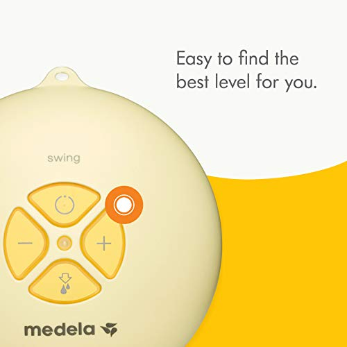Medela, Swing, Single Electric Breast Pump, Compact and Lightweight Motor, 2-Phase Expression Technology, Convenient AC Adaptor or Battery Power, Single Pumping Kit, Easy to Use Vacuum Control by Medela (Image #2)