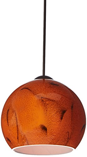 Besa Lighting RXP-5658HB-BR Palla 5 Collection 1-Light 12V Rail-Ready Mini-Pendant Element, Bronze Finish with Habanero Art - Mini 5 Palla Pendant