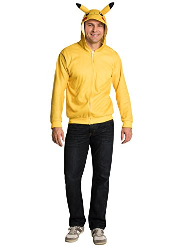 Rubie's Costume Co Pokemon Pikachu Unisex Hoodie, Yellow,