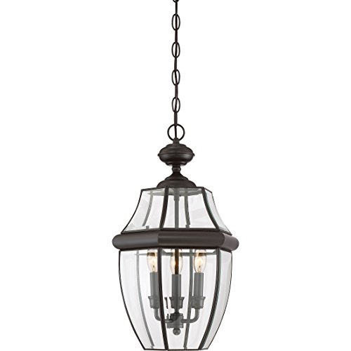 (Quoizel NY1179Z Newbury Outdoor Pendant Lantern Ceiling Lighting, 3-Light, 180 Watts, Medici Bronze (21