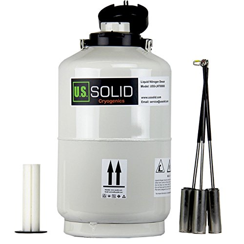 U.S.SOLID 10L Cryogenic Container Liquid Nitrogen LN2 Tank Dewar with Straps 6 (Liquid Storage Tank)