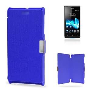 Funda Flip Cover S.E. Xperia J Imán (Azul)