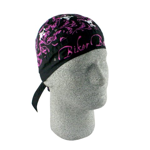 (FLYDANNA; 100% COTTON, BIKER BABE, Manufacturer: Zan Headgear, Manufacturer Part Number: Z422-AD, Stock Photo - Actual parts may vary.)