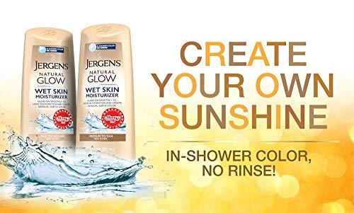 Jergens Natural Glow In-shower Moisturizer, Self Tanner, Fair to Medium Skin Tone Sunless Tanning, 7.5 Ounce Wet Skin… 3