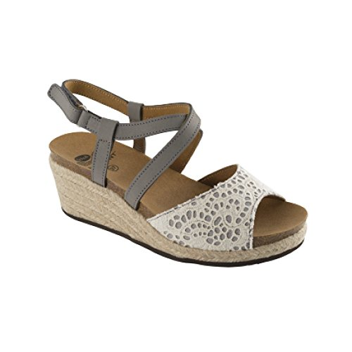 DR.SCHOLL - Sandalias de vestir de Lona para mujer Gris gris