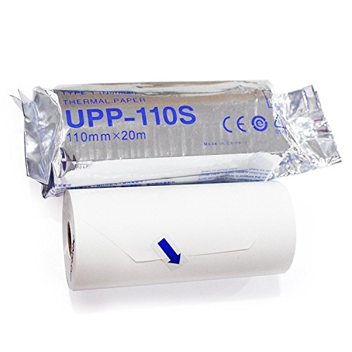UPP-110S Type I Black and White Video Thermal Printing Media 110mm x 20m (5 Rolls) by ECG Paper Depot (Image #4)