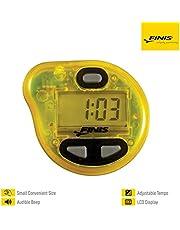 Finis Uitgebreide akoestische metronoom voor zwemmen Tempo Trainer Pro, geel, één maat