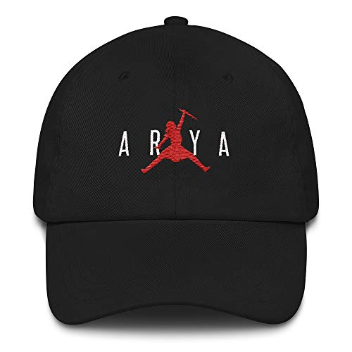 d86b6333b Chloe Miller 91 Air Arya Embroidered Hat Arya Jumpman Jordan Hat for GOT  Fans Black