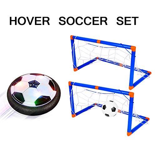 Hover Ball, Led Lights Soccer Ball with 2 Goals Toys for Boy Girl Gifts Xmas Gifts