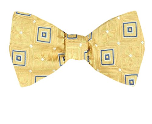 Tie Self Tie Yourself Fbtz Gold and Yellow Bow 1948 Ties Silk Men's Bowtie Yellow xgfI0qwZ